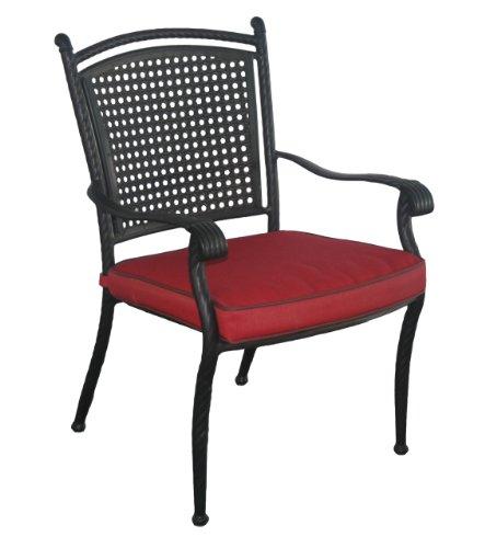 DC America SRC2824LB Savannah Aluminum Rattan Low Back Chair (Savannah Rattan Garden Furniture)