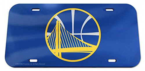 NBA Golden State Warriors Crystal Mirror License Plate, 6 x 12-Inch by WinCraft