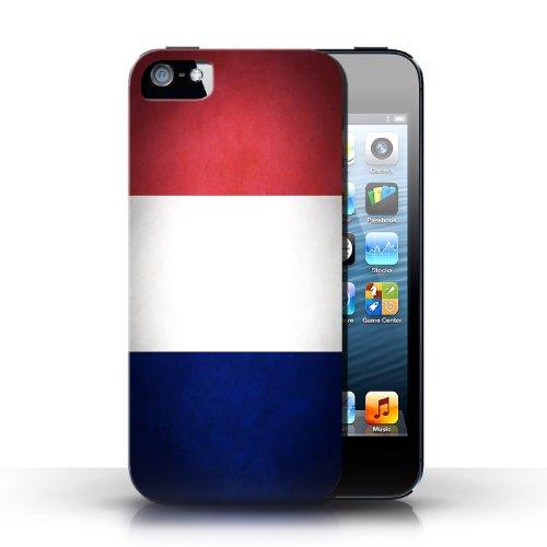 Etui / Coque pour Apple iPhone 5/5S / France/français conception / Collection de Drapeau