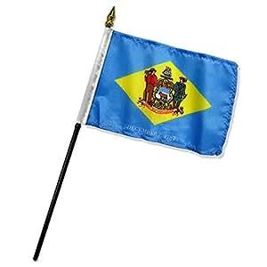 """Delaware 4""""x6"""" bandera de escritorio Stick (sin base)"""