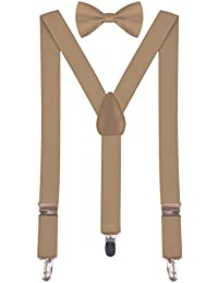 BODY STRENTH Bow Tie for Kids Child Suspender Pretied...