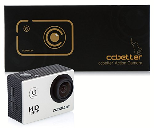 CCBETTER? Sports Action Camera CS710 12mp 1080p 120 Degree Waterproof Diving Video DVR (Grey)