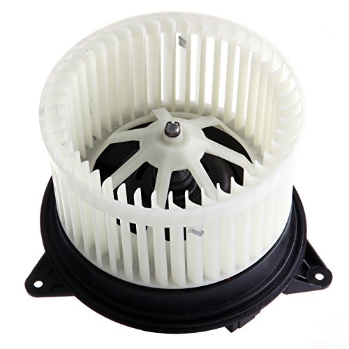 HVAC plastic Heater Blower Motor w/Fan Cage ECCPP for 2010-2013 Ford Transit Connect 2000-2007 Ford Focus 2002-2008 Jaguar X-Type Front by ECCPP
