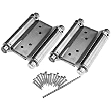 2 PCS 3'' Cafe Saloon Door Swing Self Closing Double Action Spring Hinge