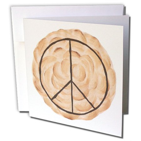 e Pie - Greeting Cards, 6 x 6 inches, set of 12 (gc_14311_2) (Peace Postage)
