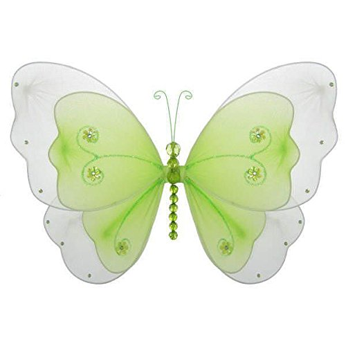 - The Butterfly Grove Sasha Butterfly Decoration 3D Hanging Mesh Nylon Layered Decor, Green Honeydew, Medium, 13
