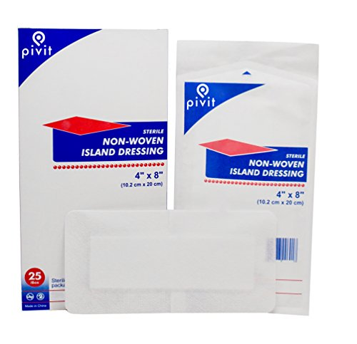 Pivit Sterile Adhesive Bordered Gauze Island Wound Dressings | 4