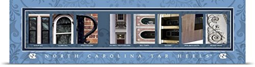 Poster Print entitled Tar Heels - University of North Carolina Campus Letters by Campus Letter Art 60