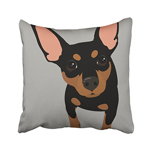 Emvency Decorative Throw Pillow Cover Square Size 16x16 Inches Black Min Pin Owner Pillowcase With Hidden Zipper Decor Cushion Gift For Home Sofa Bedroom Couch (Pin Pillow)
