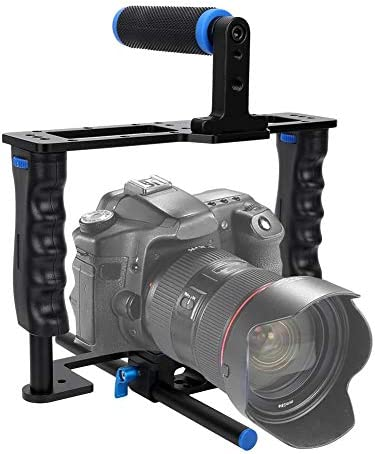 YELANGU カメラスタビライザー 映画制作カメラビデオケージセット 軽量 カメラスタビライザーケージキット トップハンドル付