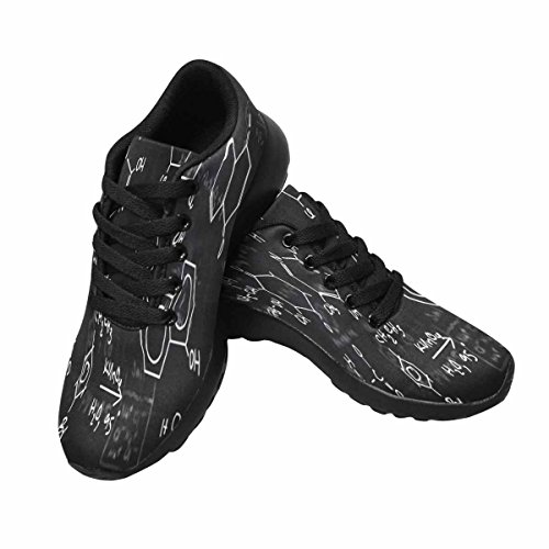 InterestPrint Womens Jogging Running Sneaker Lightweight Go Easy Walking Comfort Sports Running Shoes Chemical Formulas Multi 1 4ZASIhy