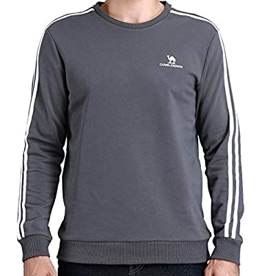 CAMEL CROWN Men's Athletic Fleece Pullover Sweatshirt Long Sleeve Crewneck Sportswear