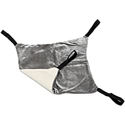 SODIAL Cat Hammock Bed Comfortable Hanging Pet Hammock Bed for Cats/Small Dogs/Rabbits/other Small Animals(Khaki)