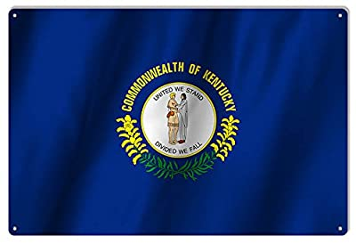 Kentucky State Flag Sign 12X18