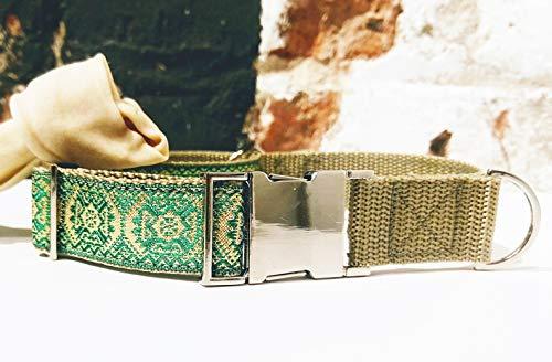 - Green 1 inch Nylon Martingale Dog Collar
