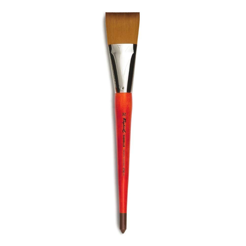Raphael Kaerell Synthetic Watermedia Brush, Series 8796, Flat, Size 32