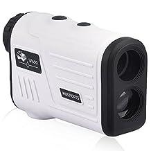 Golf Rangefinder, Laser Range Finder for Hunting Golf Trajectory Mode, Flag-Lock and Distance/Speed/Angle Measurement
