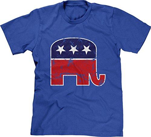 Blittzen Mens GOP Elephant, S, Royal Blue]()