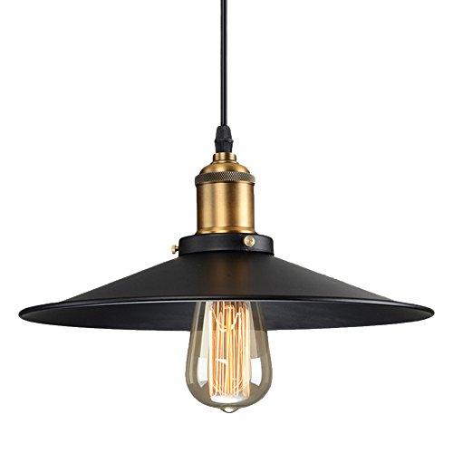 Vintage Industrial Metal Black Ceiling Light Shade Edison Retro Pendant Light