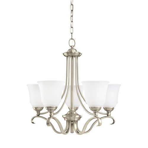 Sea Gull Lighting Parkview Antique Brushed Nickel Energy Star Five-Light LED Chandelier (965 Parkview 3 Light)