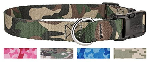 Image of Country Brook Design Woodland Camo Deluxe Dog Collar - Large