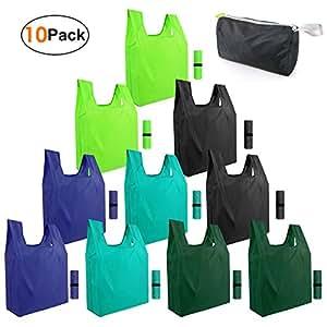 Amazon.com: Reusable-Grocery-Bags-Shopping-foldable-bags