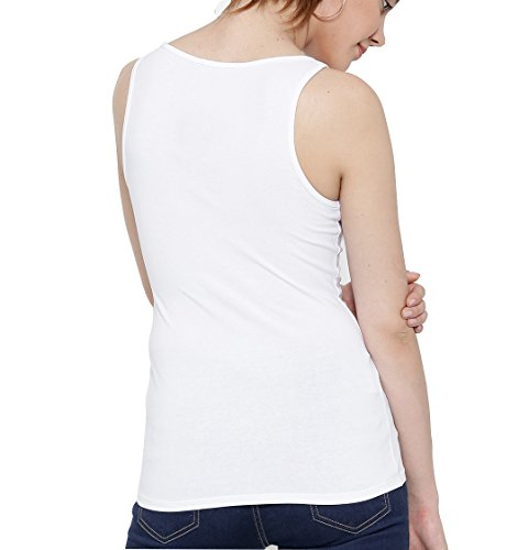 Women's Organic Cotton Tank Top Sleeveless-Scoop Neck Vest Stringer//Camisole