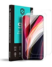"""[2 Pack] ZUSLAB Screen Protector for iPhone 12 Pro 6.1"""" & iPhone 12 6.1"""" Tempered Glass Case Friendly 9H Hardness Transparent Clear"""