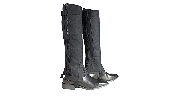 Details about  /C--XXL Xx Large Horze Ribbed Amara Half Chaps Horse Riding Synthetic Leather Hoo