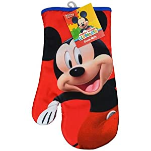 Disney Mickey or Minnie Mouse Pot Holder Oven Mitt and Kitchen Hand Towel (Mickey Oven Mitt)