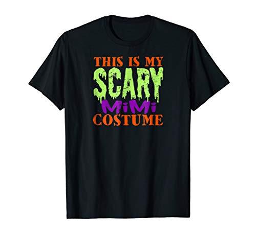 This is my Scary Mimi Costume Halloween Tshirt Grandma Funny ()