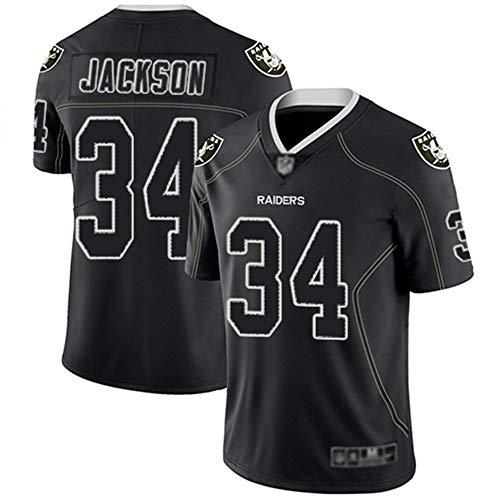 Camiseta de Rugby Las Vegas Raiders 34# Jackson, Camisetas de fútbol Americano Jackson # 34, Camiseta Deportiva de Manga…