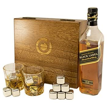 Whiskey Stones - Large Set of 8 Stainless steel beverage chilling rocks- Includes 2 drinking  sc 1 st  Amazon.com & Amazon.com: Whiskey Rocks Gift Set: Set of 9 Artisinal Hand Cut ... Aboutintivar.Com