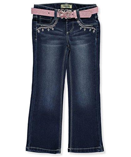 Dark Wash Belted Jeans - 3