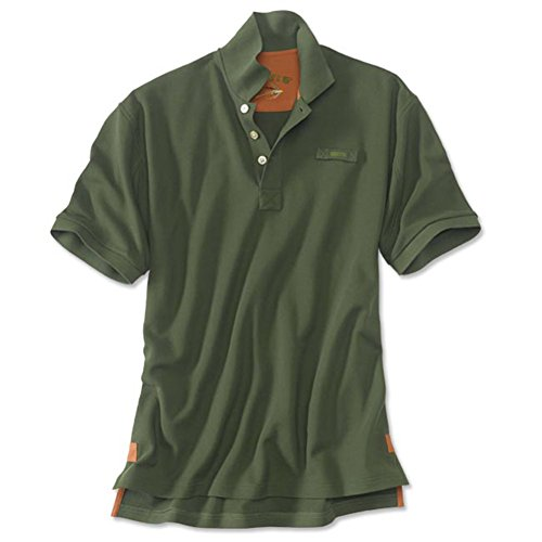 80322c15 Orvis Men's The Signature Polo/Regular, Olive, Large from Orvis