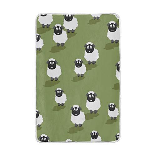 Jonassk Woolffk Bleating Sheep Yogurt Soft Blanket All Season Comfort Super Soft Warm Plush Blanket Fuzzy Light Warm Wool Blanket Sofa Bed, 60x90 Inches