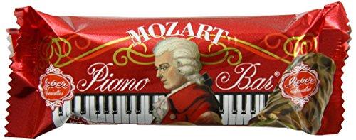Chocolate Covered Nougat Marzipan - Reber Mozart Piano Bar - 45g - 1.6 Ounce - Single Bar