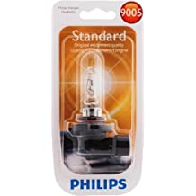 Philips 9005 Standard Halogen Headlight Bulb (High-Beam), Pack of 1