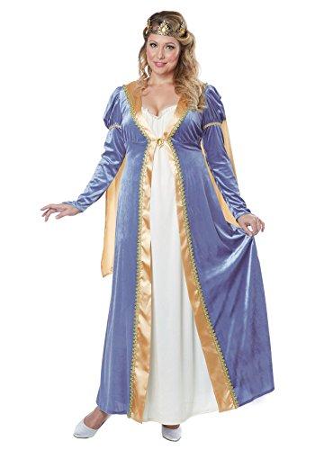 Renaissance Princess Adult Costumes (California Costumes Women's Plus Size Elegant Renaissance Lady Costume, Blue, XXX-Large)
