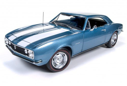 (Autoworld AMM1101 1967 Chevrolet Camaro Z/28 50th Anniversary Nantucket Blue Limited Edition to 1002pcs 1/18 Diecast Model Car)