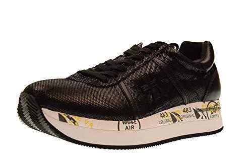 3344 Premiata Mujer Zapatillas Bajas Negro Conny W7qwaFxP7n
