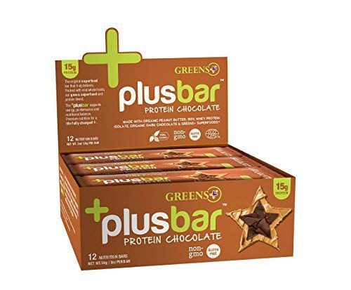 Greens+ Plusbar Protein Chocolate - 12 Bars