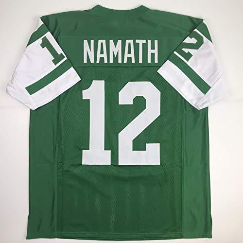 - Unsigned Joe Namath New York Green Custom Stitched Football Jersey Size XL New No Brands/Logos