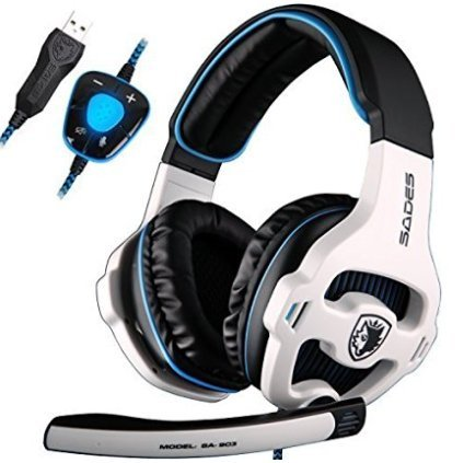 Headphones SADES Surround Computer Microphone