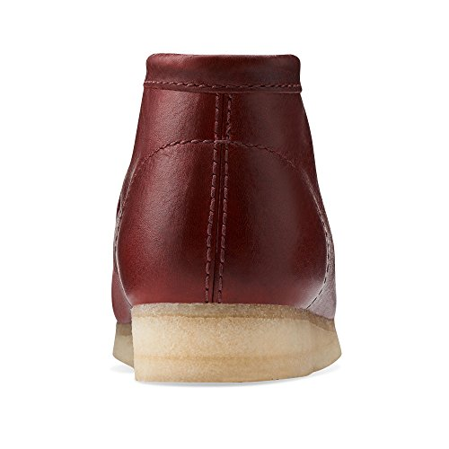 2aecc26b15e on sale Clarks Wallabee Men's Leather Boots Burgundy 26103606 ...