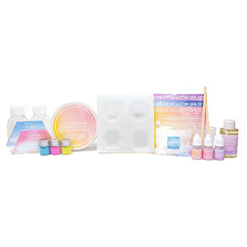 41cgd7wFiqL - STMT DIY Signature Spa Kit by Horizon Group USA, Create 4 Personalized Perfume Bars & 2 Bottles of Lotion. Lavender, Rose & Vanilla Scents Included, Multicolored