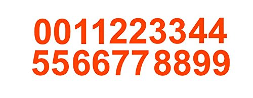 Reflective Sheet of 3 Inch (Orange) Vinyl Custom Street Address Mailbox Number Decal Stickers Kit by CustomDecal US