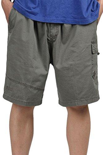 Esercito Con Pantaloni Elastico Pantaloncini Verde Uomo Shorts Da Cargo Militari Bermuda Heheja RFf8v