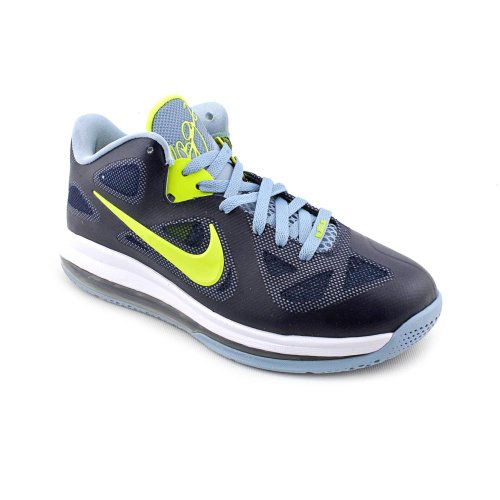 sale retailer a5a08 3fa3d well-wreapped Nike Lebron 9 Low Mens Basketball Shoes  Obsidian Cyber-White-Blue Grey 510811-401