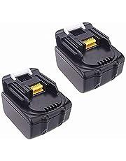 2 x 14,4 V gereedschapsaccu Li-Ion 3 Ah 3000 mAh voor Makita BL1430 BL1440 BL1450 194066-1 BL1415